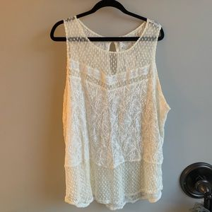 Plus lace top